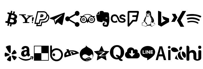 Type Icons फ़ॉन्ट अपरकेस