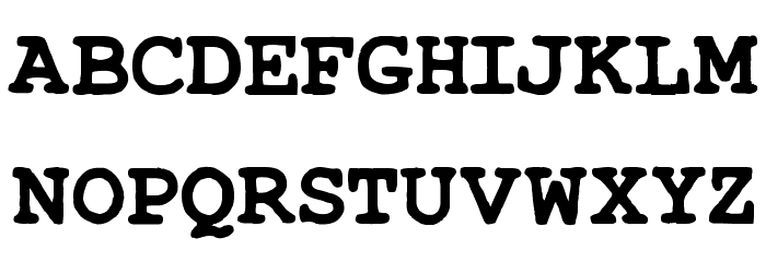 TypeWrong Smudged Bold Font UPPERCASE