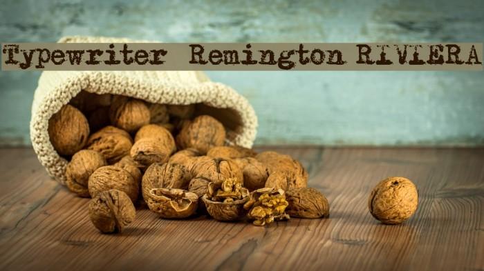 Typewriter - Remington RIVIERA Fuentes examples