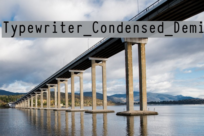Typewriter_Condensed_Demi Fonte examples