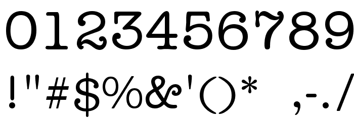 Typist Font OTHER CHARS