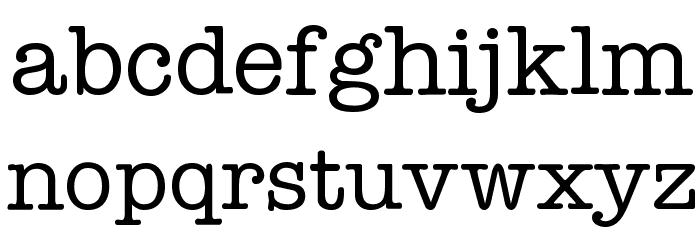 Typist Font LOWERCASE