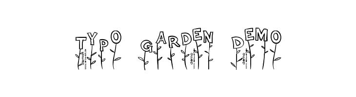 Typo Garden Demo  Fuentes Gratis Descargar