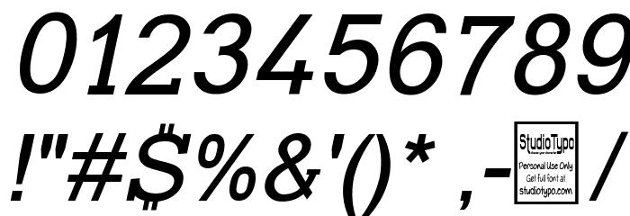 Typo Slab Italic Font OTHER CHARS
