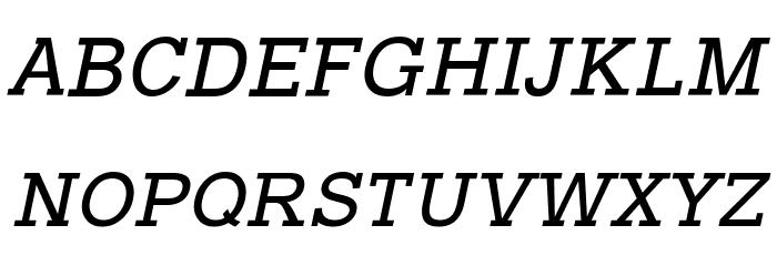 Typo Slab Italic Font UPPERCASE