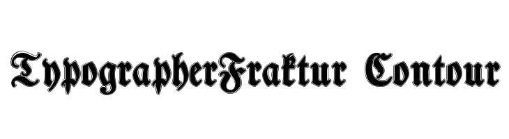 TypographerFraktur Contour  Free Fonts Download