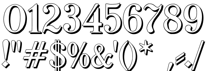 TypographerFraktur Shadow Font OTHER CHARS