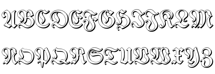 TypographerFraktur Shadow Font UPPERCASE