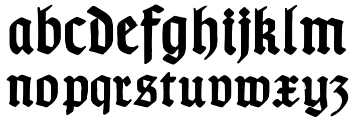 TypographerGotischB-Bold Font LOWERCASE