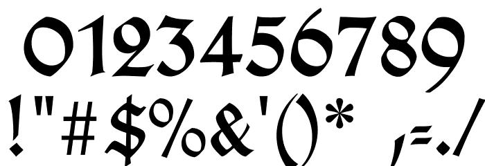 TypographerGotischB Font OTHER CHARS