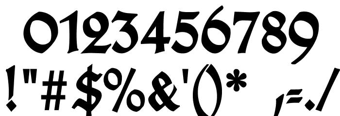 TypographerGotischD-Bold Font OTHER CHARS