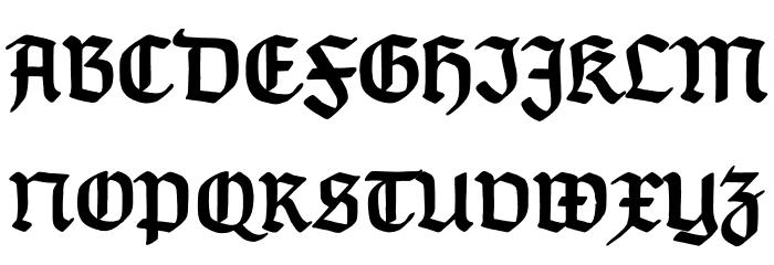 TypographerGotischD-Bold Font UPPERCASE