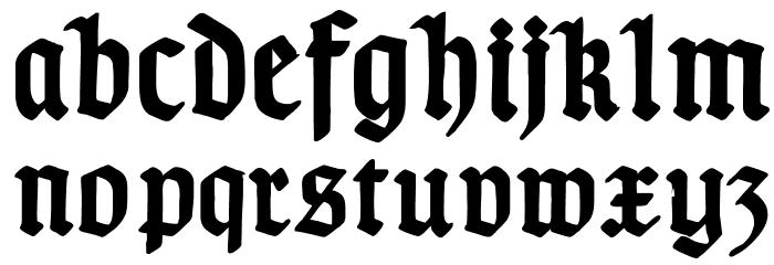 TypographerGotischD-Bold Font LOWERCASE