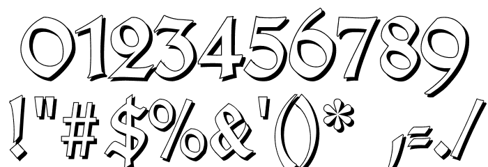 TypographerGotischSchatten Font OTHER CHARS