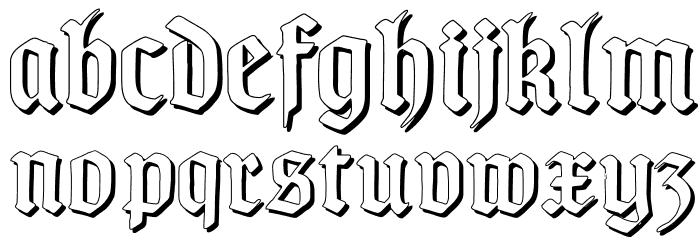 TypographerGotischSchatten Font LOWERCASE