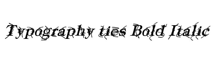 Typography ties Bold Italic  لخطوط تنزيل