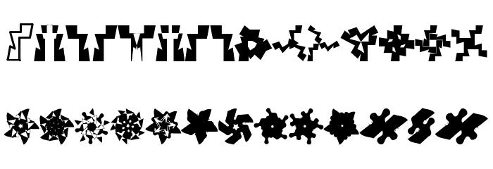 U-Mix-U फ़ॉन्ट अपरकेस