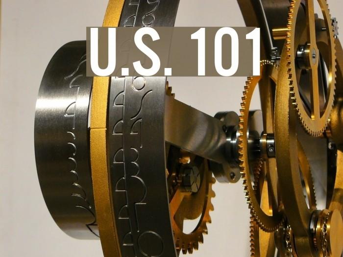 U.S. 101 फ़ॉन्ट examples