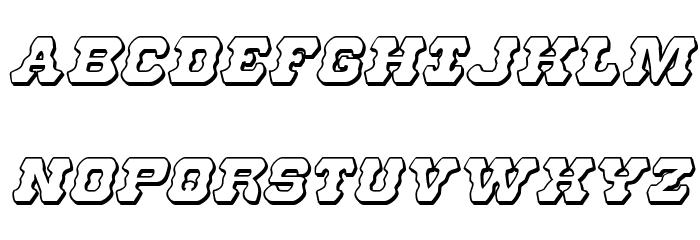 U.S. Marshal 3D Italic Шрифта ВЕРХНИЙ