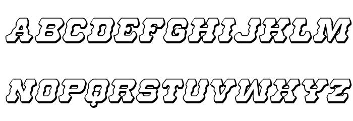 U.S. Marshal 3D Italic Font LOWERCASE