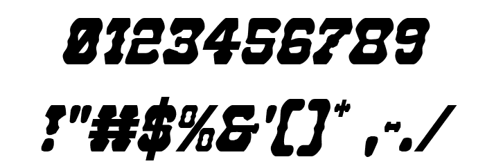 U.S. Marshal Condensed Italic Шрифта ДРУГИЕ символов