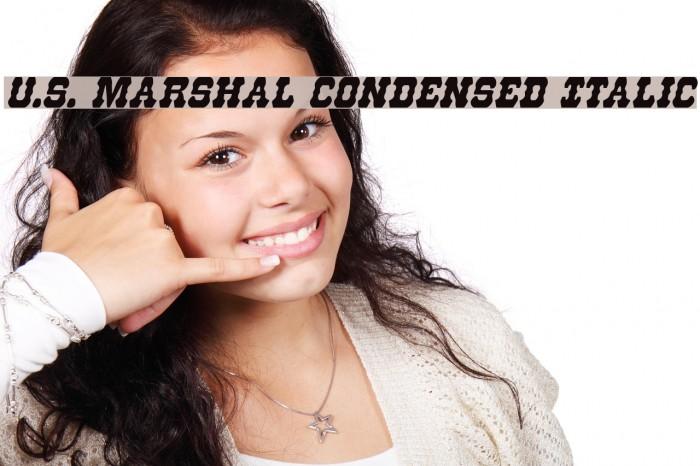 U.S. Marshal Condensed Italic Шрифта examples