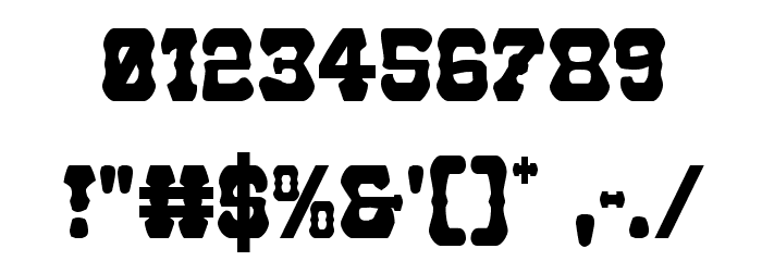 U.S. Marshal Condensed Font OTHER CHARS