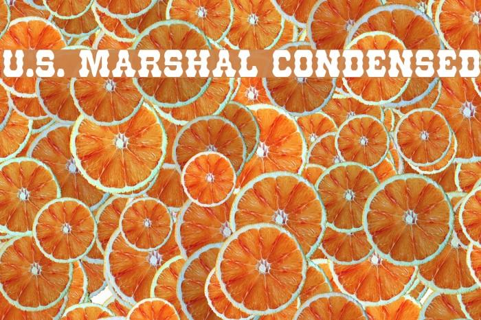 U.S. Marshal Condensed Caratteri examples