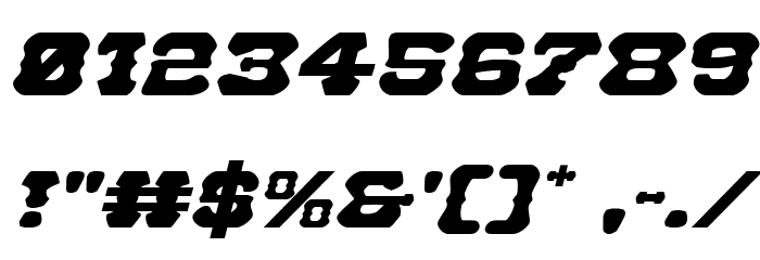 U.S. Marshal Expanded Italic Font OTHER CHARS