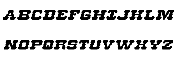 U.S. Marshal Expanded Italic Шрифта ВЕРХНИЙ
