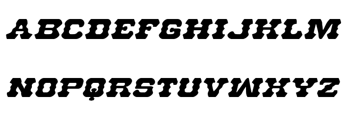 U.S. Marshal Expanded Italic Шрифта строчной