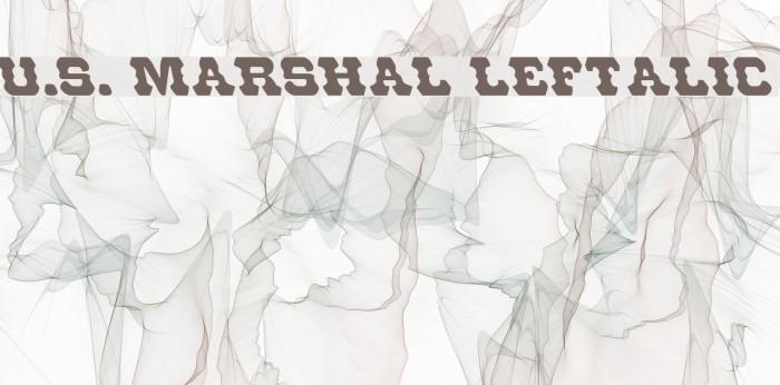 U.S. Marshal Leftalic Шрифта examples