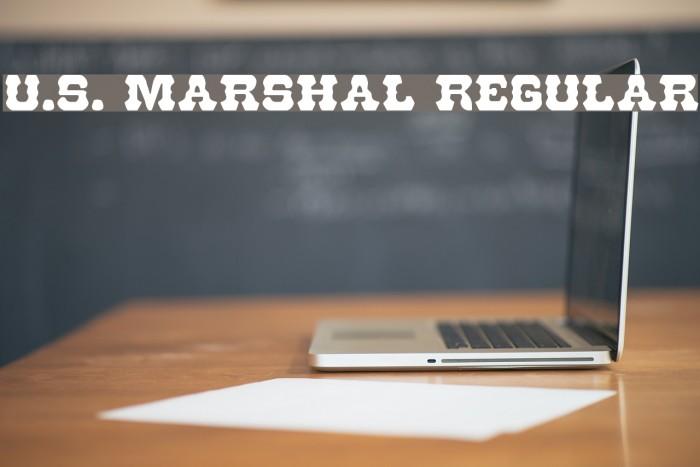 U.S. Marshal Regular Caratteri examples
