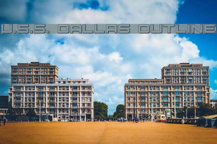U.S.S. Dallas Outline Шрифта examples