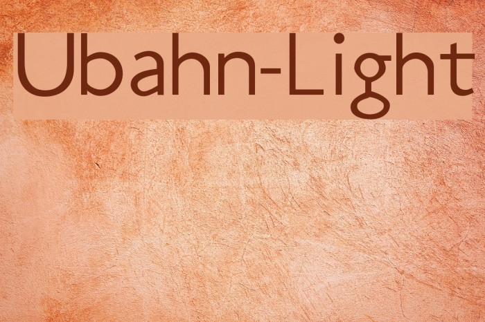 Ubahn-Light Fuentes examples