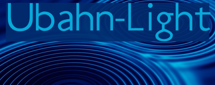Ubahn-Light Шрифта examples