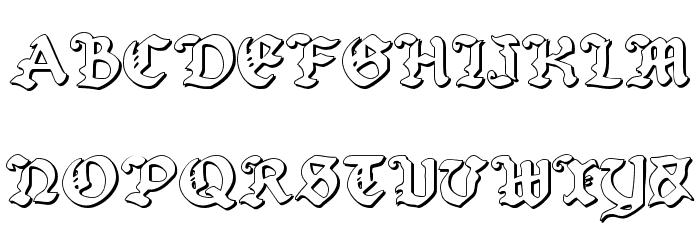 Uberh�lme Outline Font UPPERCASE
