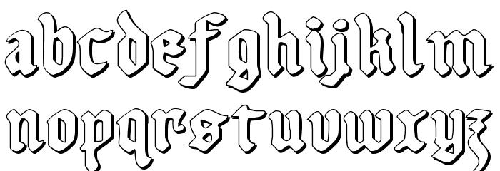 Uberh�lme Outline Font LOWERCASE