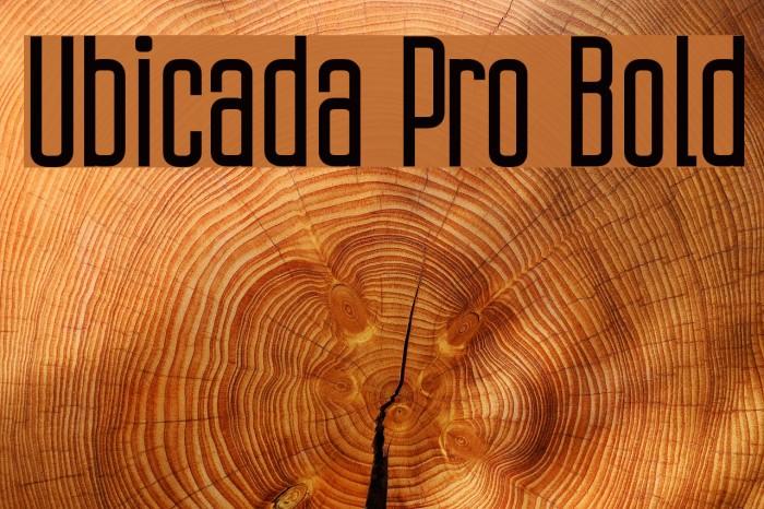 Ubicada Pro Bold फ़ॉन्ट examples