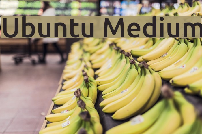 Ubuntu Medium Font examples