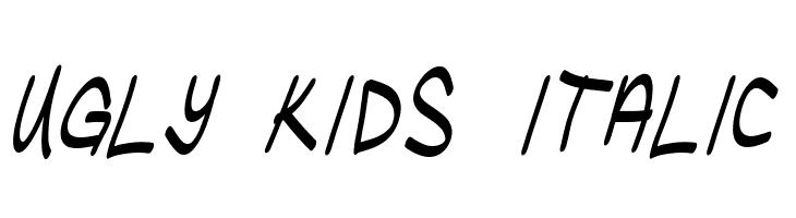 Ugly Kids Italic  Скачать бесплатные шрифты