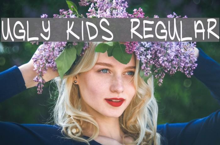 Ugly Kids Regular Font examples
