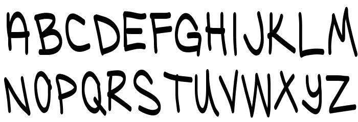 Ugly Kids Regular Font LOWERCASE