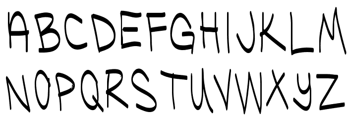 Ugly Kids Thin Font UPPERCASE