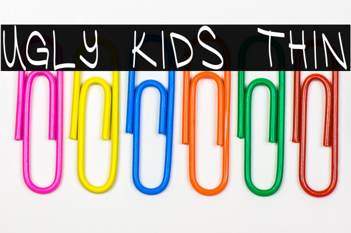 Ugly Kids Thin Font examples