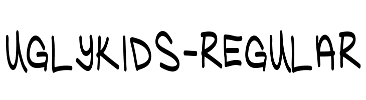 UglyKids-Regular  Скачать бесплатные шрифты