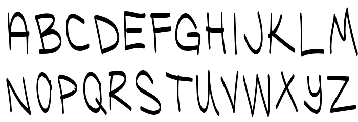UglyKids-Thin Font UPPERCASE