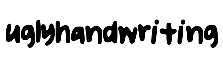 uglyhandwriting  Free Fonts Download