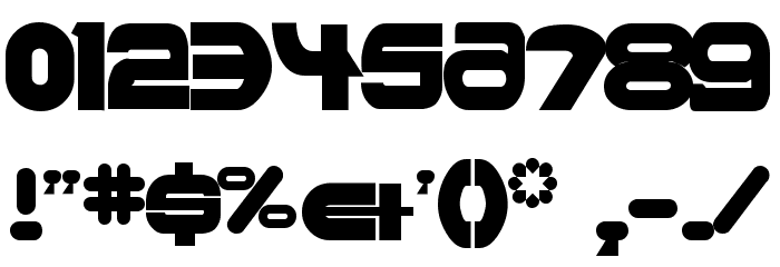 Ultraworld Font OTHER CHARS