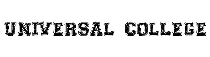 UNIVERSAL-COLLEGE  Скачать бесплатные шрифты